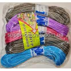 Веревка бельевая 4мм 15метров твердая цветная