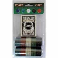 Покерный набор 80 фишек на блистере