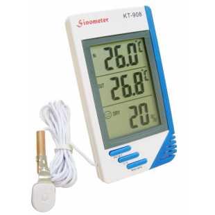 Термометр электронный гигрометр часы будильник календарь и вынос датчик КТ 908